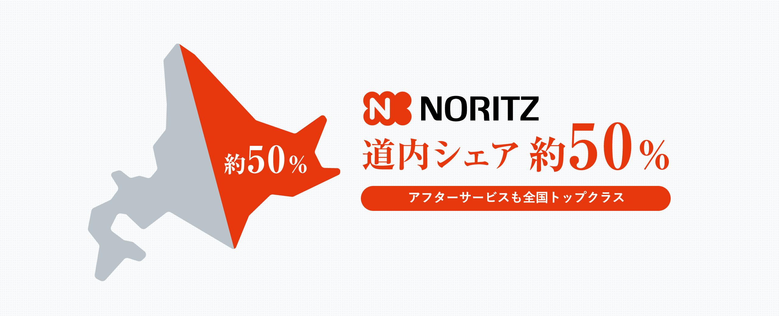 NORITZ 道内シェア約50%。アフターサービスも全国トップクラス
